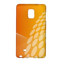 Abstract Orange Background Galaxy Note Edge