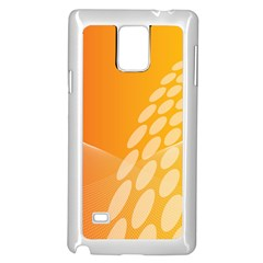 Abstract Orange Background Samsung Galaxy Note 4 Case (white)