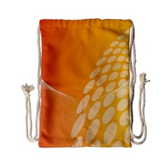Abstract Orange Background Drawstring Bag (small)