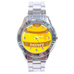 Honet Bee Sweet Yellow Stainless Steel Analogue Watch