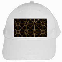 Digitally Created Seamless Pattern Tile White Cap