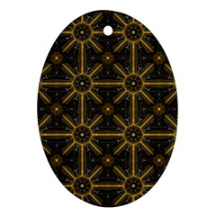 Digitally Created Seamless Pattern Tile Ornament (oval)