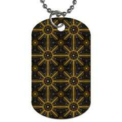 Digitally Created Seamless Pattern Tile Dog Tag (two Sides)