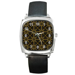 Digitally Created Seamless Pattern Tile Square Metal Watch