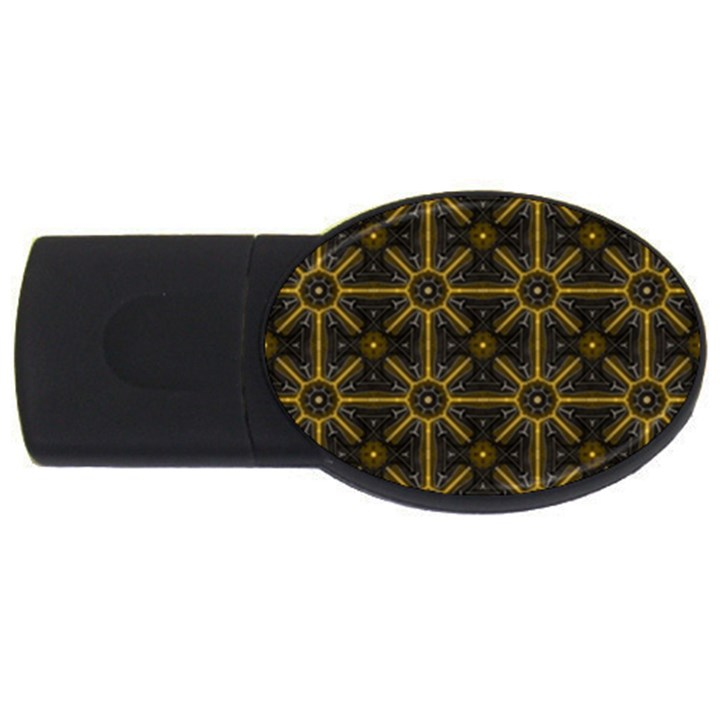 Digitally Created Seamless Pattern Tile USB Flash Drive Oval (4 GB)