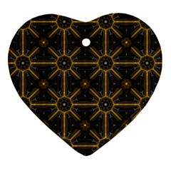 Digitally Created Seamless Pattern Tile Heart Ornament (two Sides)