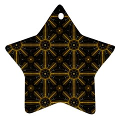 Digitally Created Seamless Pattern Tile Star Ornament (two Sides)