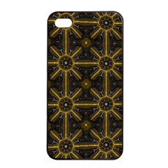 Digitally Created Seamless Pattern Tile Apple iPhone 4/4s Seamless Case (Black)