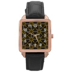 Digitally Created Seamless Pattern Tile Rose Gold Leather Watch