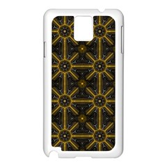 Digitally Created Seamless Pattern Tile Samsung Galaxy Note 3 N9005 Case (White)