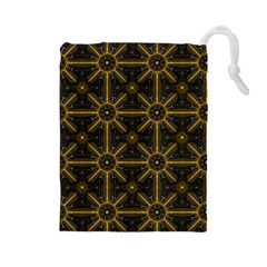 Digitally Created Seamless Pattern Tile Drawstring Pouches (Large)
