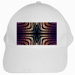 Vibrant Pattern Colorful Seamless Pattern White Cap