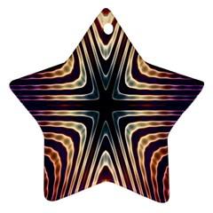 Vibrant Pattern Colorful Seamless Pattern Ornament (Star)