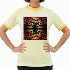 Vibrant Pattern Colorful Seamless Pattern Women s Fitted Ringer T Shirts