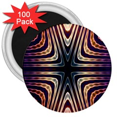 Vibrant Pattern Colorful Seamless Pattern 3  Magnets (100 Pack)