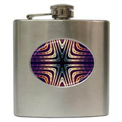 Vibrant Pattern Colorful Seamless Pattern Hip Flask (6 oz)