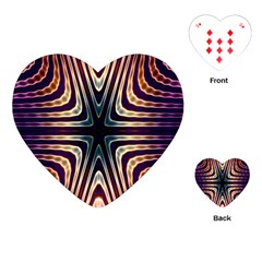 Vibrant Pattern Colorful Seamless Pattern Playing Cards (heart)