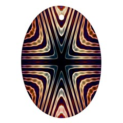 Vibrant Pattern Colorful Seamless Pattern Oval Ornament (two Sides)