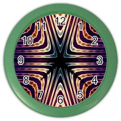 Vibrant Pattern Colorful Seamless Pattern Color Wall Clocks
