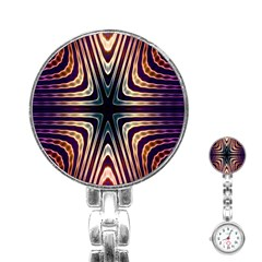 Vibrant Pattern Colorful Seamless Pattern Stainless Steel Nurses Watch