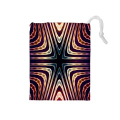 Vibrant Pattern Colorful Seamless Pattern Drawstring Pouches (Medium)