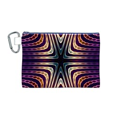 Vibrant Pattern Colorful Seamless Pattern Canvas Cosmetic Bag (m)