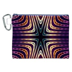 Vibrant Pattern Colorful Seamless Pattern Canvas Cosmetic Bag (XXL)