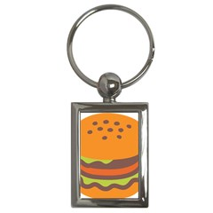 Hamburger Key Chains (rectangle)