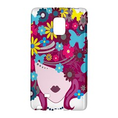 Floral Butterfly Hair Woman Galaxy Note Edge