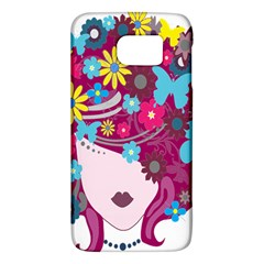 Floral Butterfly Hair Woman Galaxy S6