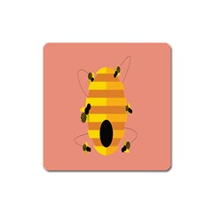 Honeycomb Wasp Square Magnet