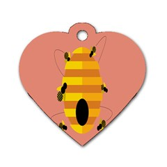Honeycomb Wasp Dog Tag Heart (Two Sides)