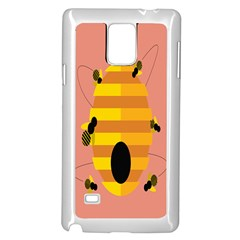 Honeycomb Wasp Samsung Galaxy Note 4 Case (white)