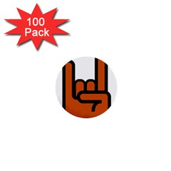 Metal Hand 1  Mini Buttons (100 pack)