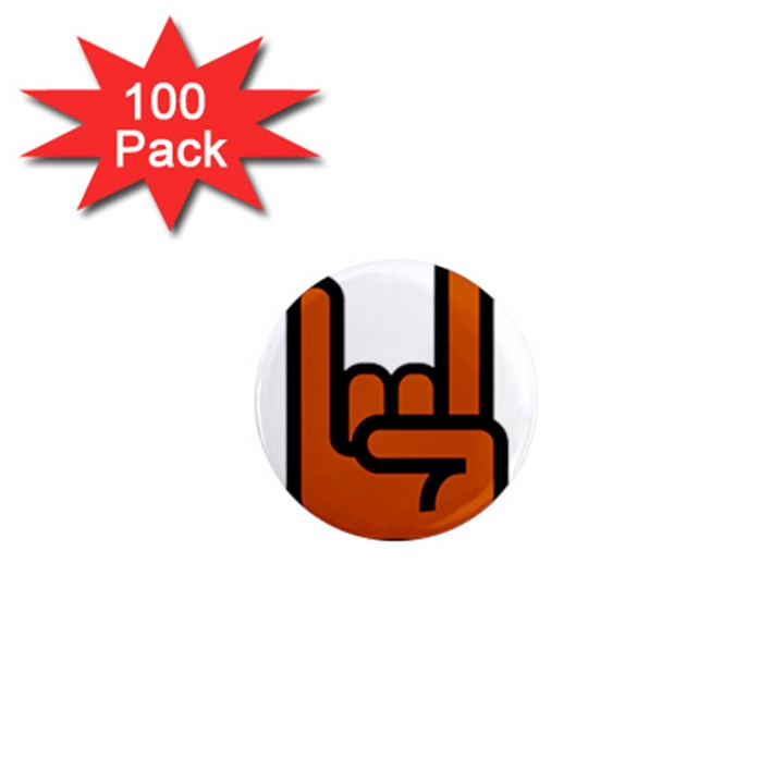Metal Hand 1  Mini Magnets (100 pack)