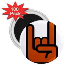 Metal Hand 2 25  Magnets (100 Pack)