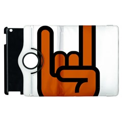 Metal Hand Apple iPad 3/4 Flip 360 Case