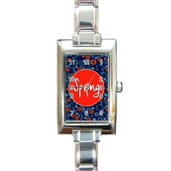 Floral Texture Pattern Card Floral Seamless Vector Rectangle Italian Charm Watch