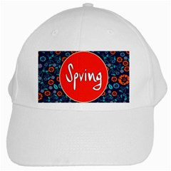 Floral Texture Pattern Card Floral Seamless Vector White Cap