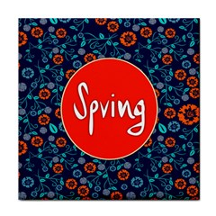Floral Texture Pattern Card Floral Seamless Vector Tile Coasters