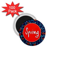 Floral Texture Pattern Card Floral Seamless Vector 1 75  Magnets (100 Pack)