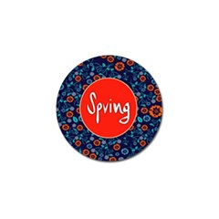 Floral Texture Pattern Card Floral Seamless Vector Golf Ball Marker (10 Pack)