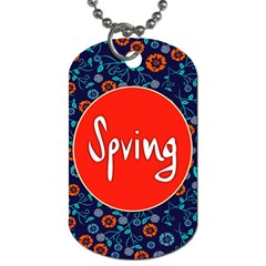 Floral Texture Pattern Card Floral Seamless Vector Dog Tag (Two Sides)