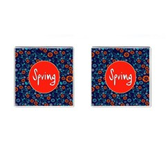 Floral Texture Pattern Card Floral Seamless Vector Cufflinks (square)