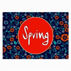 Floral Texture Pattern Card Floral Seamless Vector Large Glasses Cloth (2-Side)