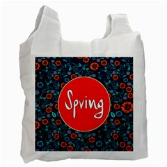 Floral Texture Pattern Card Floral Seamless Vector Recycle Bag (two Side)