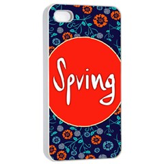Floral Texture Pattern Card Floral Seamless Vector Apple Iphone 4/4s Seamless Case (white)