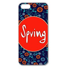 Floral Texture Pattern Card Floral Seamless Vector Apple Seamless iPhone 5 Case (Clear)
