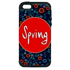 Floral Texture Pattern Card Floral Seamless Vector Apple iPhone 5 Hardshell Case (PC+Silicone)