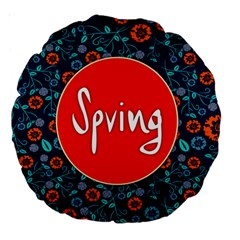 Floral Texture Pattern Card Floral Seamless Vector Large 18  Premium Round Cushions